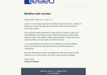 Email Cambio Dati Societari